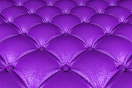 3D realistic illustration of the purple quilted leather pattern perspective view Stockfoto