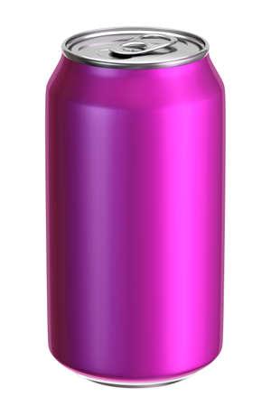 Pink aluminium drink can 3D illustration