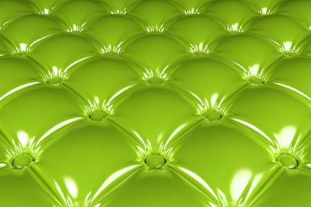 3D realistic illustration of the green quilted latex pattern perspective view
