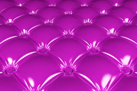 3D realistic illustration of the pink quilted latex pattern perspective view Stock Photo