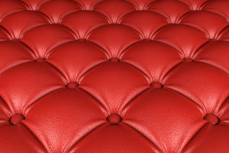 3D realistic illustration of the red quilted leather pattern perspective view