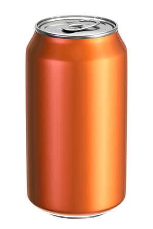 Orange aluminium drink can 3D illustration Stockfoto