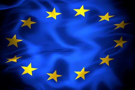 Flag of the European Union 3D illustration