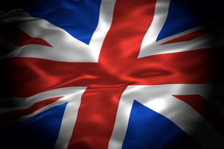 National flag of the United Kingdom of Great Britain and Northern Island 3D illustration