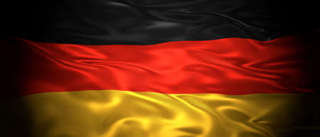 National flag of the Federal Republic of Germany 3D panoramic illustration