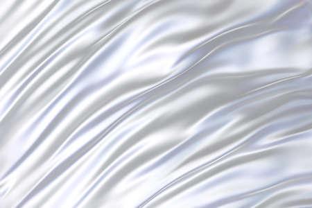 3D realistic illustration of the white silk backdrop Stockfoto