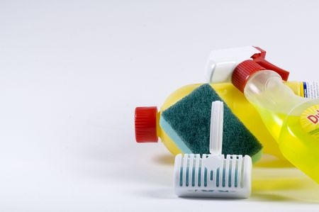 Productos de limpieza para el aseo  Foto de archivo - 608137