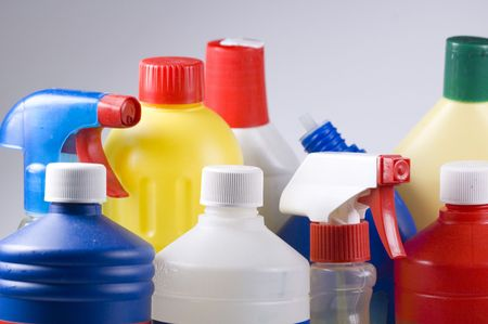 solvent: clean up your act Stock Photo