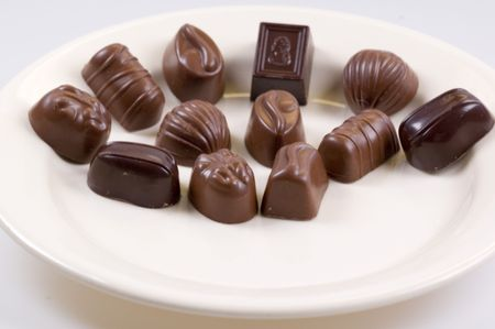 sweettooth: chocolates on a plate