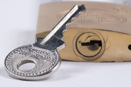 key in front of padlock Stock Photo - 626526