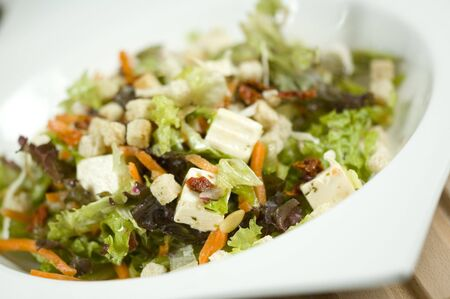 carot: salad tilted to the left