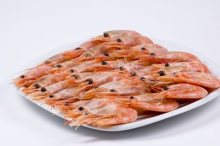 plate with shrimps photo