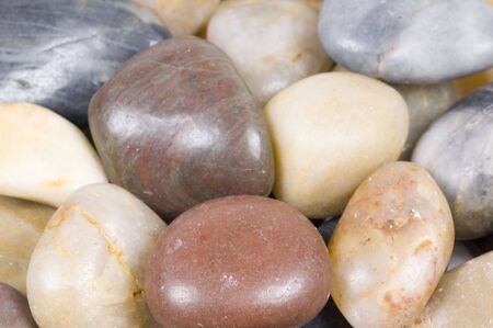 close-up of pebbles photo