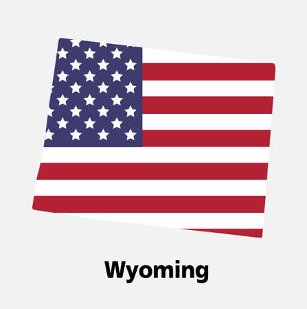 United States of America,Vector,Wyoming map vector illustration