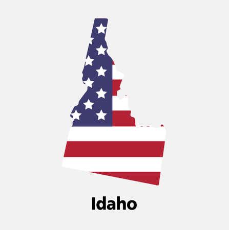 United States of America, Vector, idaho map vector illustration