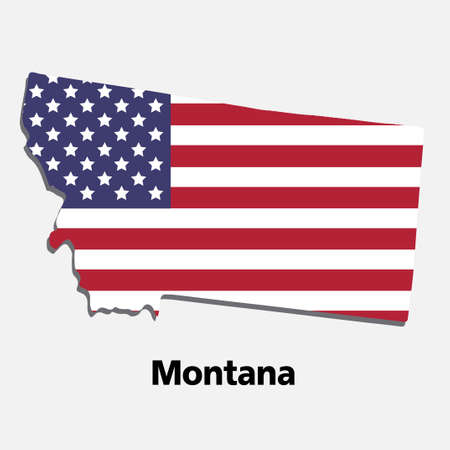 United States of America,Vector,Montana map vector illustration