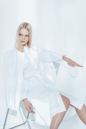 Model, White, Clothes Posing Fashion Light Brunete Blonde