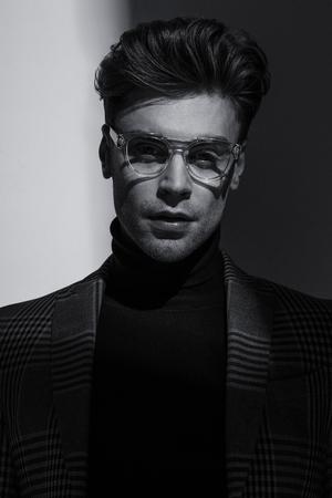 Sexy Businesman. Confident, attractive, stylish. Fashion shooting Actor 50 shades of grey Reklamní fotografie