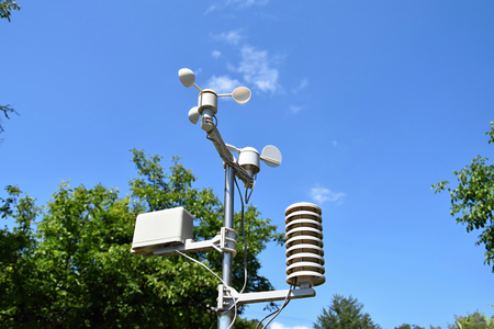 permitting: A small weather station, weather permitting Stock Photo