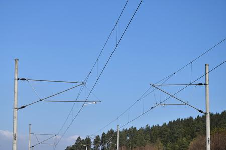 Two traction power line rail corridor