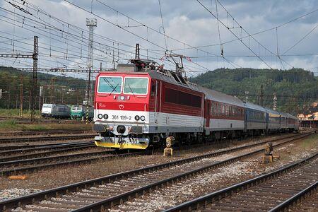 Ceska Trebova, Czech Republic, 8.9.2017: Passenger train. Railway junction and railway station Ceska Trebova, Czech Railways