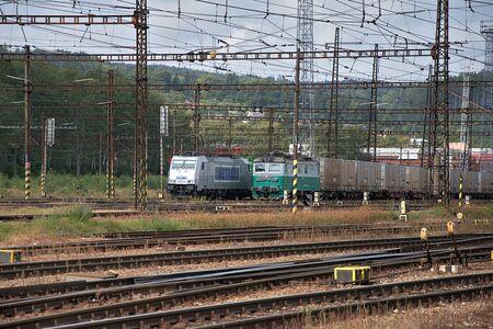 Ceska Trebova, Czech Republic, 8.9.2017: Railway junction and railway station Ceska Trebova, Czech Railways