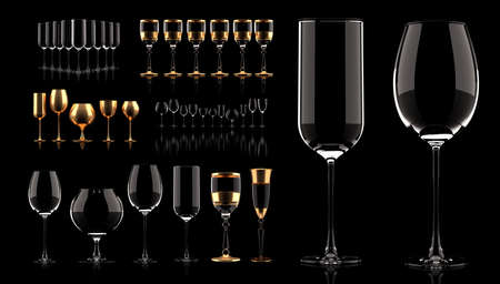 Collection of giftware for the holiday, New Year, Christmas, Black Friday. 3d rendering, 3d illustration. Stock fotó
