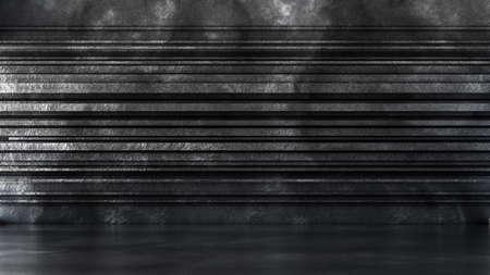 Beautiful studio interior installation room texture stone. 3d rendering, 3d illustration. Banque d'images - 133059488