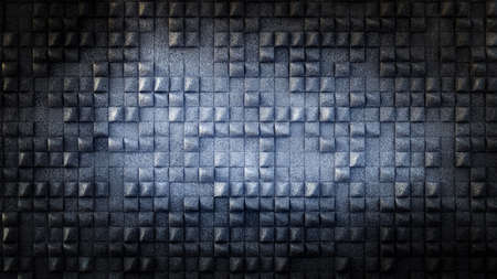Industrial, stone, texture grunge background with geometry. 3d rendering, 3d illustration. Banque d'images - 133059532