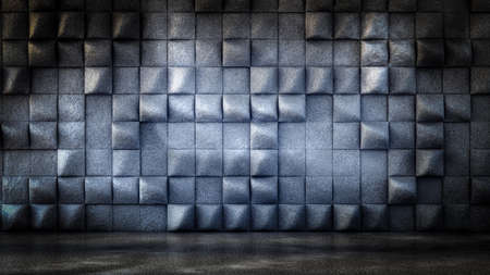 Industrial, stone, texture grunge background with geometry. 3d rendering, 3d illustration. Banque d'images - 133059465