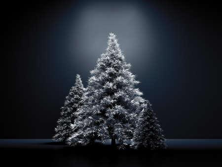 Room interior christmas holiday fir tree background.3d rendering 3d illustration.