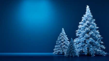 Room interior christmas holiday fir tree background. 3d rendering 3d illustration. Zdjęcie Seryjne