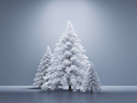 Room interior christmas holiday fir tree background. 3d rendering 3d illustration. Reklamní fotografie
