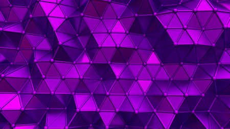 Elegant purple background with triangles and crystals. 3d rendering, 3d illustration.