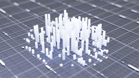City background. 3d rendering 3d illustration