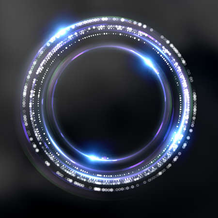 Fantastic abstract black space background. 3d illustration, 3d rendering. 스톡 콘텐츠