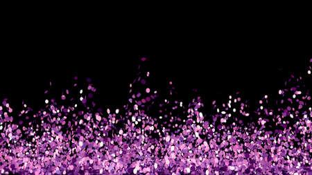 Beautiful black background with a purple glitter. 3d rendering, 3d illustration. Foto de archivo - 133407042