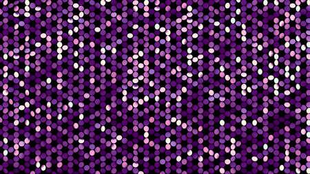 Beautiful black background with a purple glitter. 3d rendering, 3d illustration. Foto de archivo - 133407322