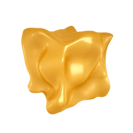 The form of caramel. 3d rendering  3d illustration.