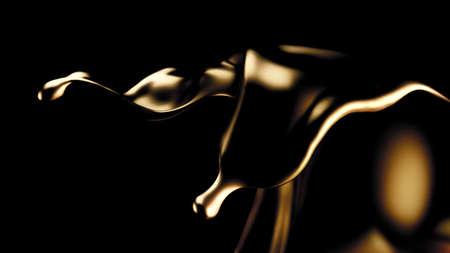 Mysterious, beautiful, luxury gold splash. 3d rendering 3d illustration.