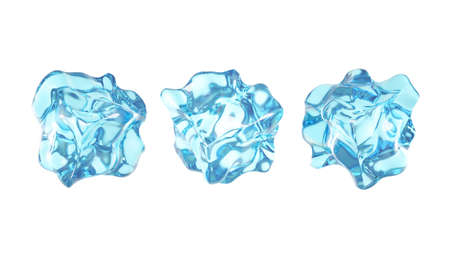 Isolated cube of ice on a white background. 3d rendering 3d illustration. Stock fotó
