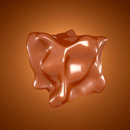 Chocolate form on a brown background. 3d rendering 3d illustration.