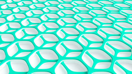 Abstract turquoise white background. 3d rendering 3d illustration.