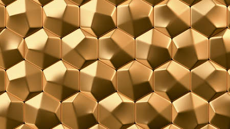 Gold metal background texture. 3d rendering, 3d illustration. Reklamní fotografie