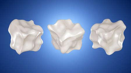 Milk is a form. 3d rendering 3d illustration.