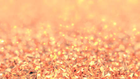 Golden pink background. 3d rendering 3d illustration.