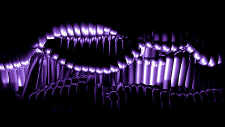 Stylish metallic purple black background with lines and waves.3d rendering 3d illustration. Stock fotó