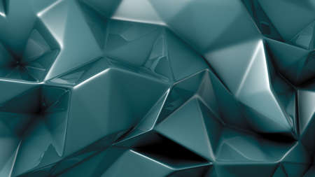 Stylish green crystal background. 3d rendering 3d illustration.
