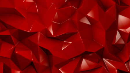 Stylish red crystal background. 3d rendering 3d illustration. Banco de Imagens - 133766904
