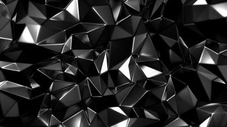Stylish black crystal background. 3d rendering 3d illustration. Banco de Imagens - 133766911
